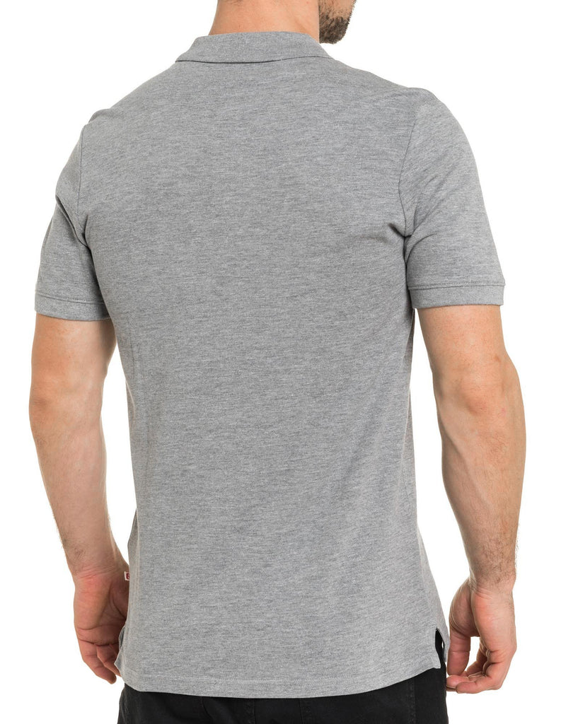 Polo homme gris slim basic