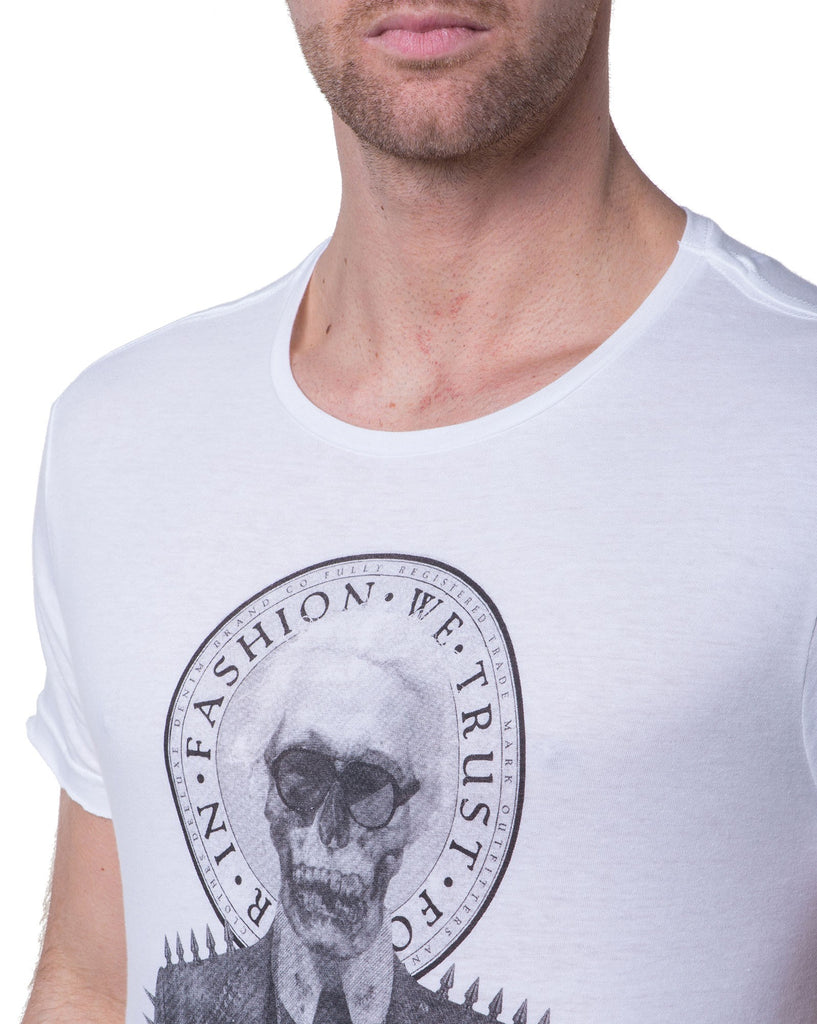Tshirt homme manches courtes blanc