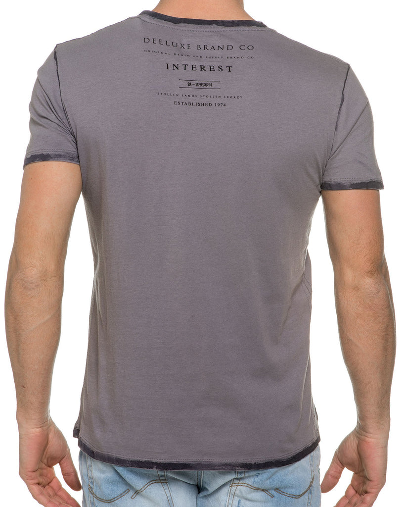 Tee Shirt Col V Gris Pocket Tees