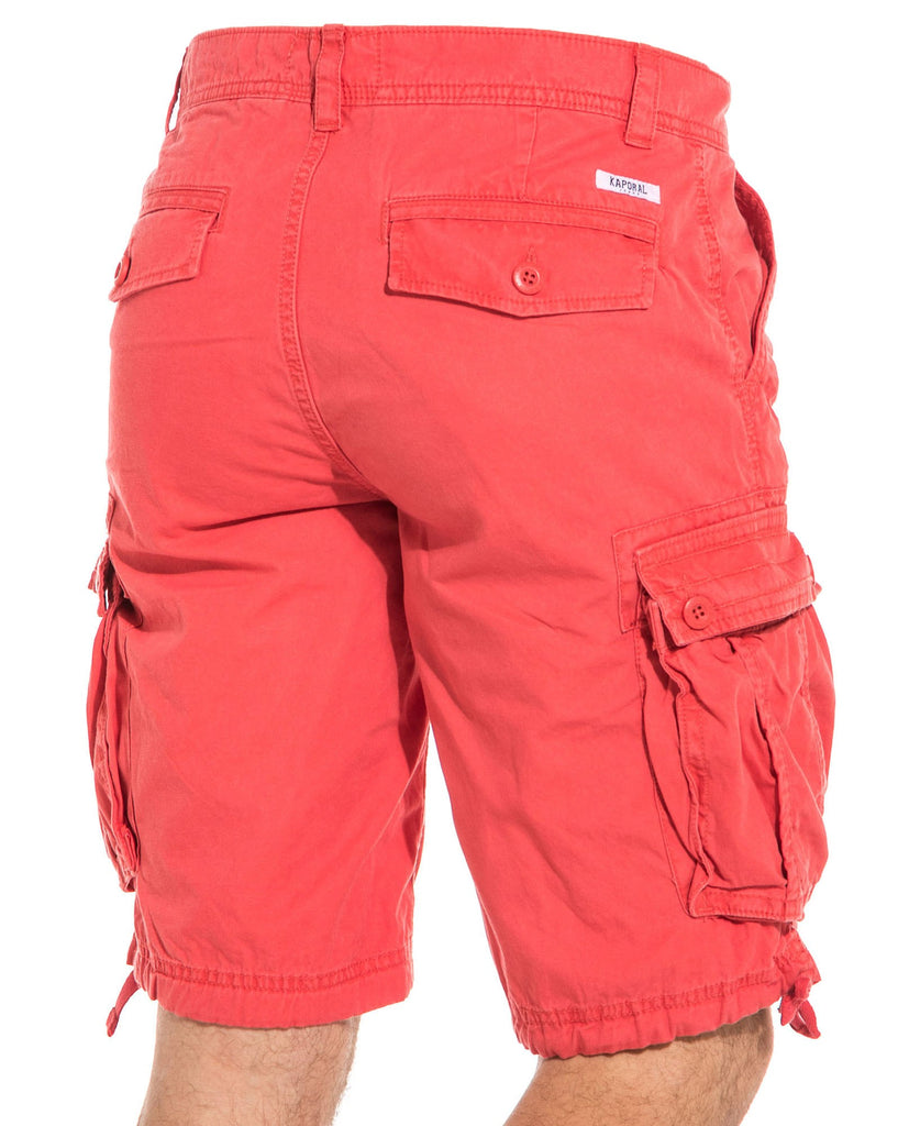 Short rose homme stylé cargo multipoches