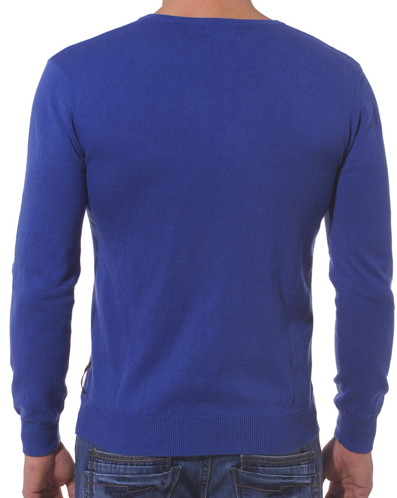 Pull design bleu royal