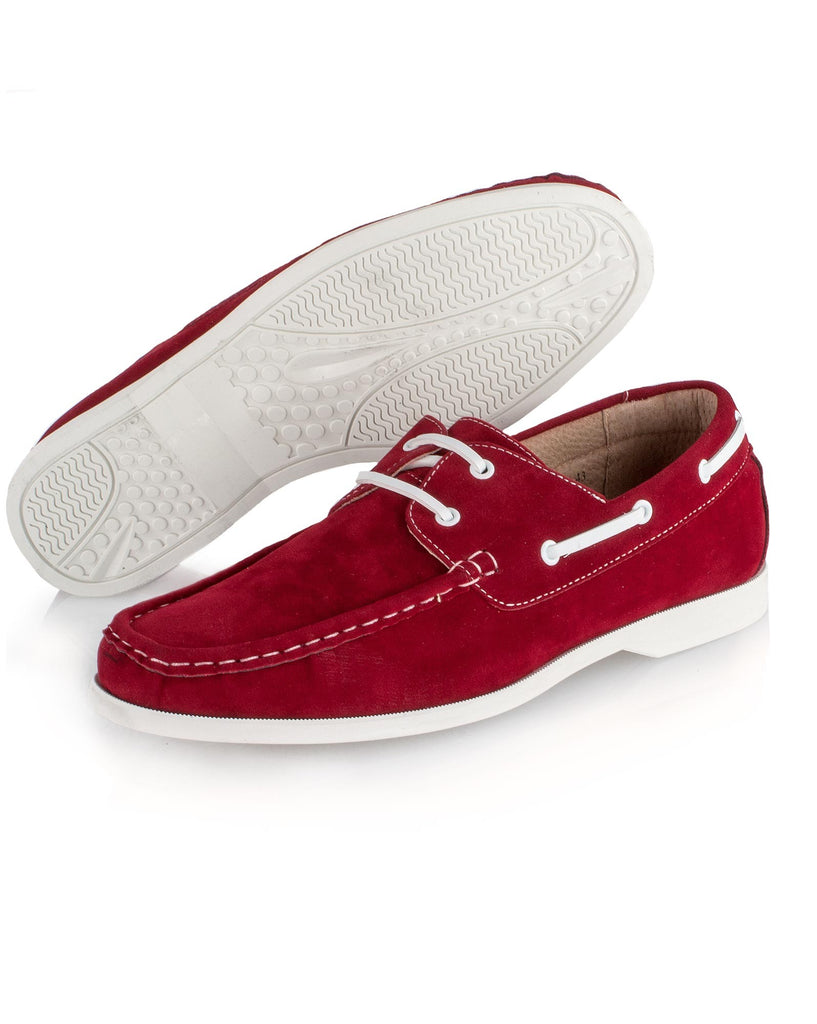 Chaussure homme bateau rouge