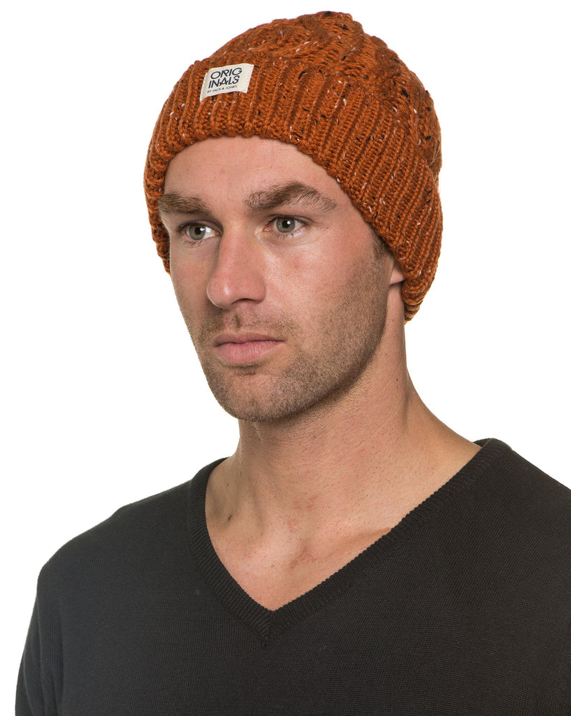 Bonnet Grosse Maille Orange