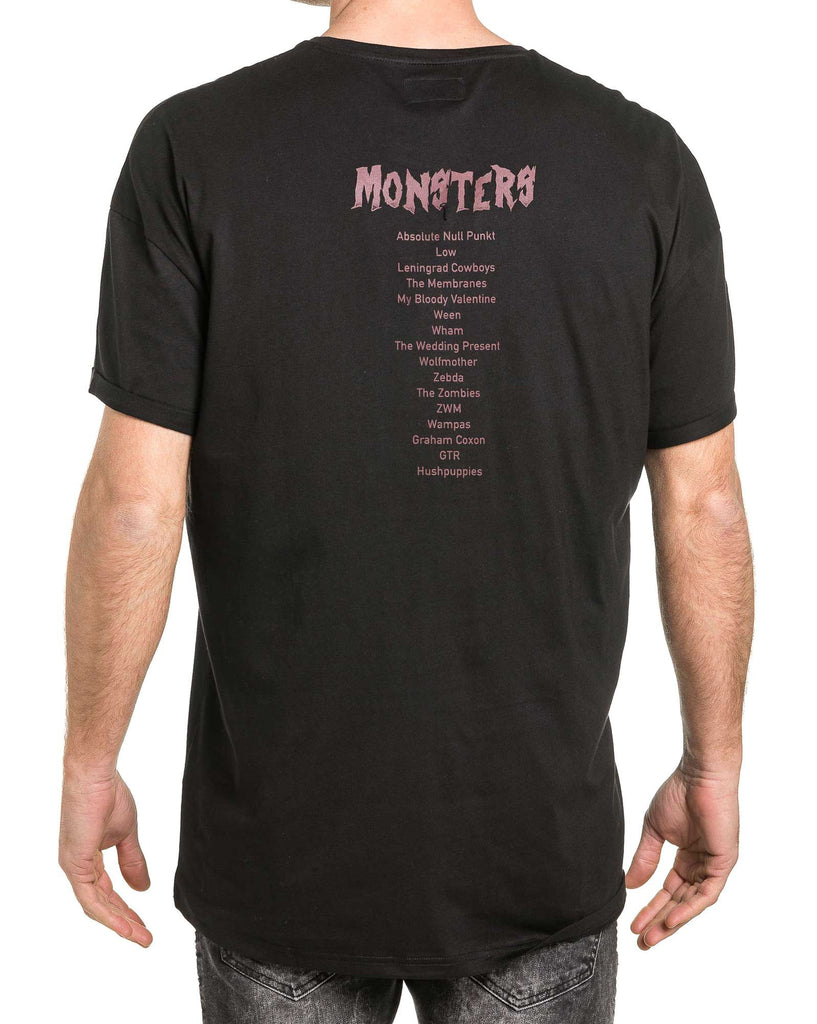 Tshirt homme monsters noir oversize