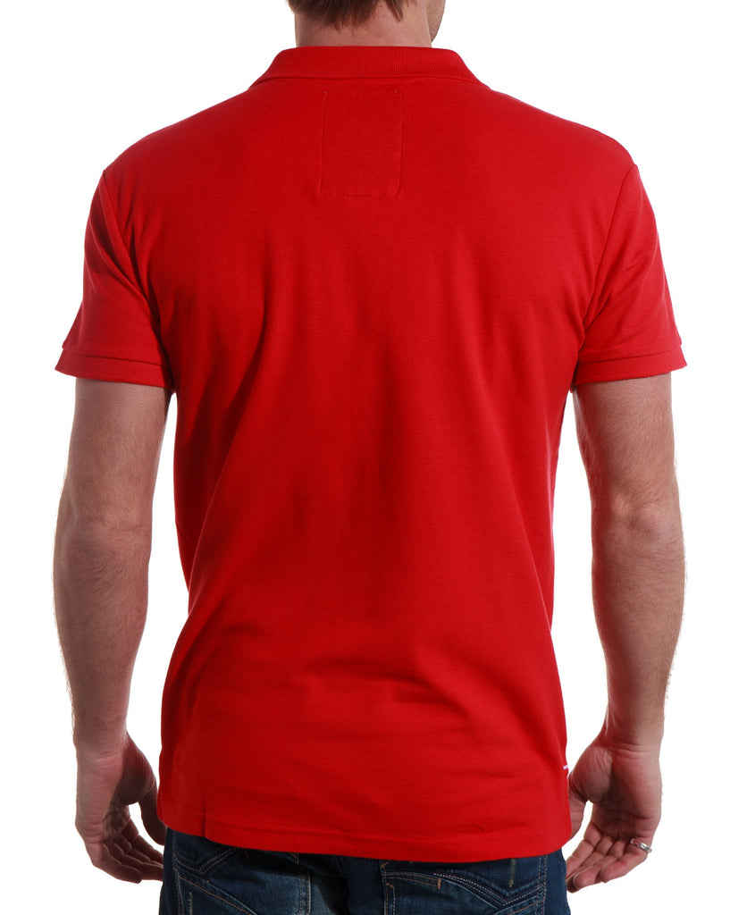 Polo homme rouge broderies tendances