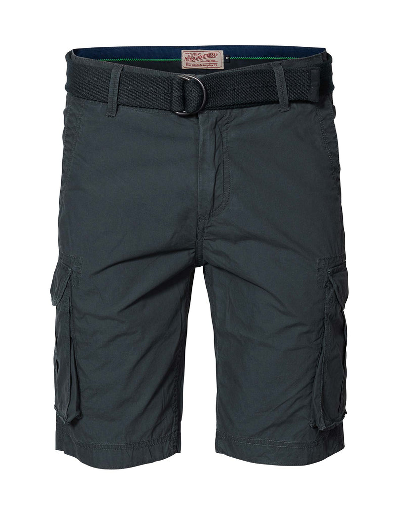 Bermuda short gris anthracite à poches cargo Petrol industries