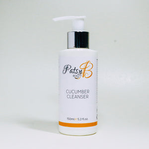 PatsyB Beauty Cucumber Cleanser 150ml Vegan Friendly, Against Animal Testing, Paraben and Sulfate Free, Package Recyclable, Made in the UK