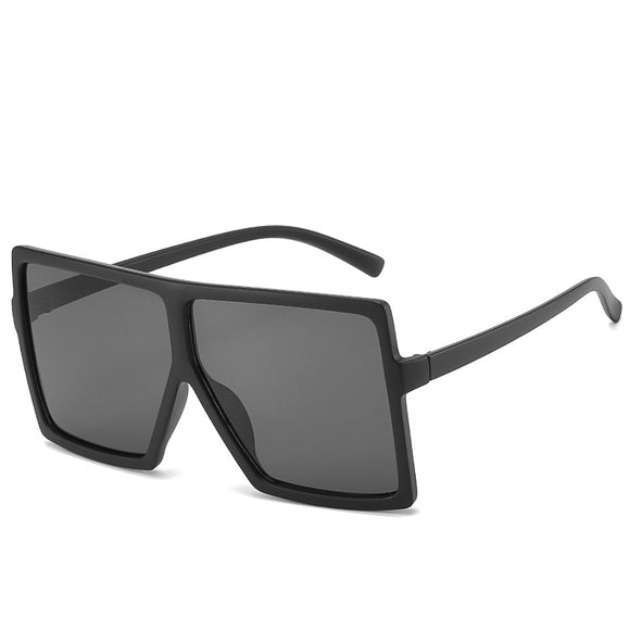 Matt Black Fashion Big Frame Sunglasses For Women