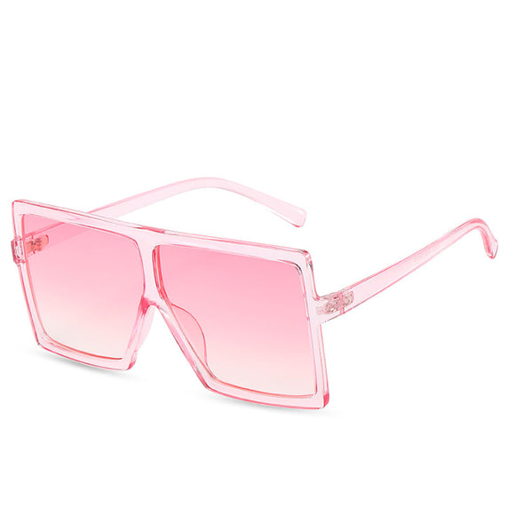 Pink Pink Fashion Big Frame Sunglasses For Women
