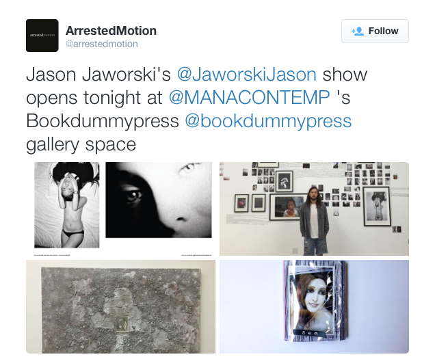 Jason Jaworski Solo Show Bookdummypress Arrested Motion Thinking Of You