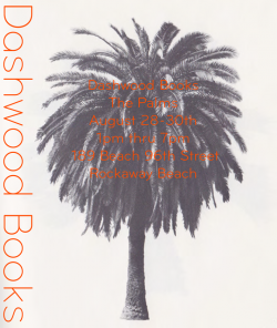 Dashwood Books The Palms Jason Jaworski