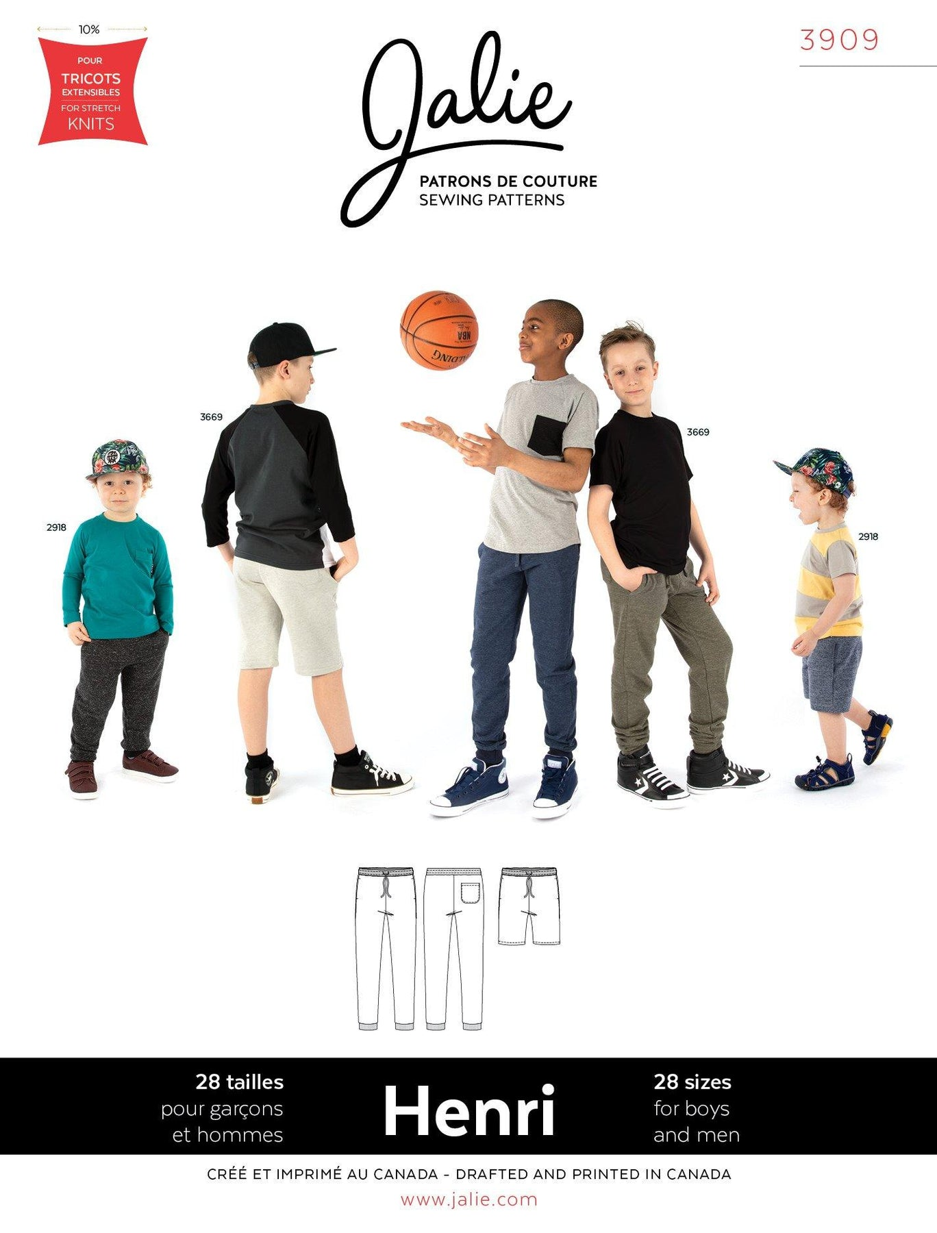 Jalie Sewing Pattern 961 Tear Away Athletic Track Pants Snap Sides ...