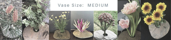 The Slate Vase, medium, dragonfly, flower arrangements, ikebana