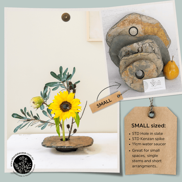 Small sized Slate Vase Features