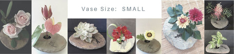 SMALL vases with small arrangements