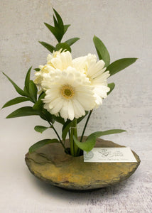 classic medium + vase with Gerbera arrangement