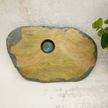 Load image into Gallery viewer, small slate vase colourful stone  oval