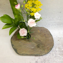 Load image into Gallery viewer, Floral arrangement in large Slate Vase with LOVE engraving