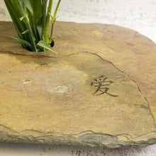 Load image into Gallery viewer, LOVE script engraved into the stone of THE SLATE VASE