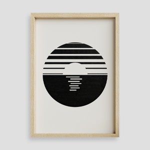 Minimalist Sunset Wall Art Print
