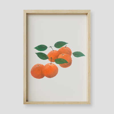 White Clementine Floral Wall Art Print