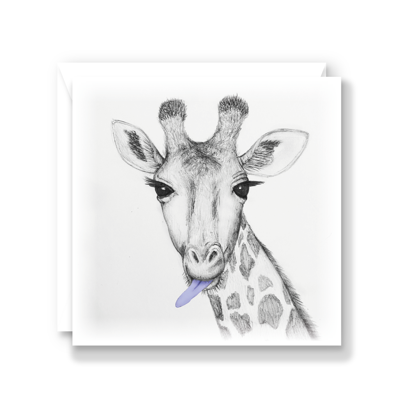 Cheeky Giraffe Card