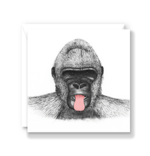 Load image into Gallery viewer, Cheeky Gorilla Greeting Card