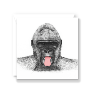 Cheeky Gorilla Greeting Card