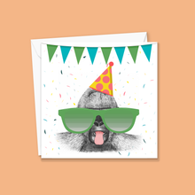 Load image into Gallery viewer, Super Cheeky Gorilla Greeting Card