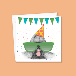 Super Cheeky Gorilla Greeting Card