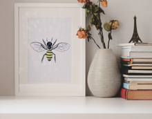 Load image into Gallery viewer, Honeybee Wall Art Print