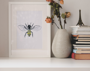 Honeybee Wall Art Print