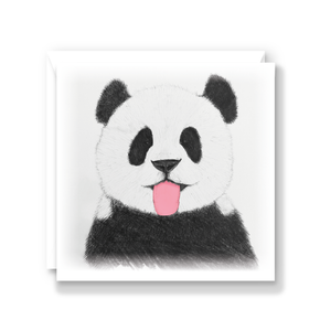 Cheeky Panda Greeting Card