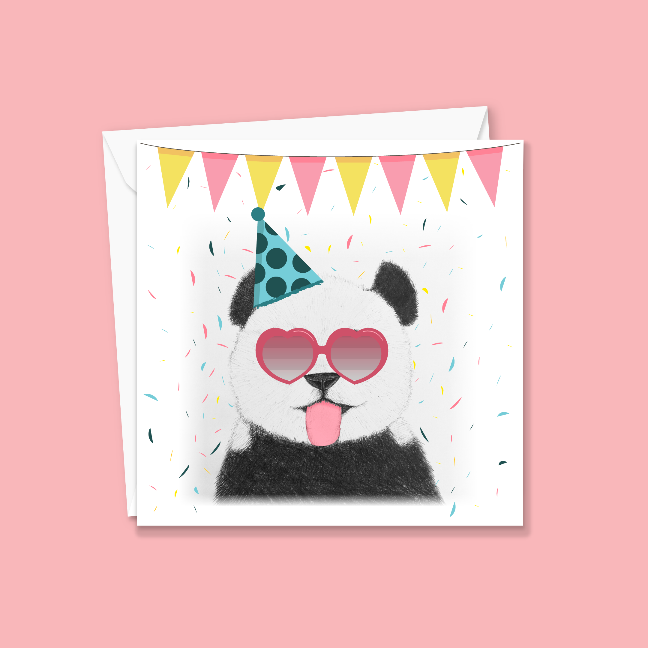Super Cheeky Panda Card