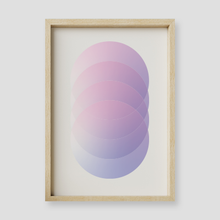 Load image into Gallery viewer, Violet Moon Geometric Wall Art Print