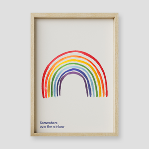 Somewhere Over The Rainbow Wall Art Print