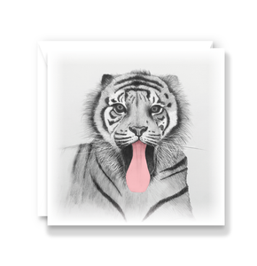 Cheeky Tiger Greeting Card