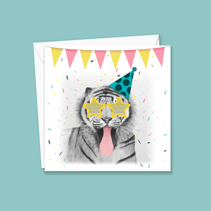 Super Cheeky Tiger Greeting Card