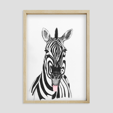 Load image into Gallery viewer, Cheeky Zebra Wall Art Print