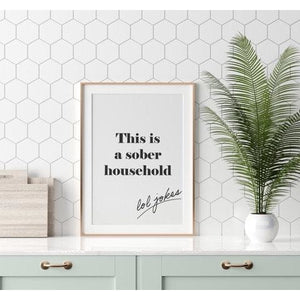 This Is A Sober Household Lol Jokes Wall Art Print