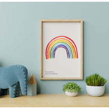 Load image into Gallery viewer, Somewhere Over The Rainbow Wall Art Print