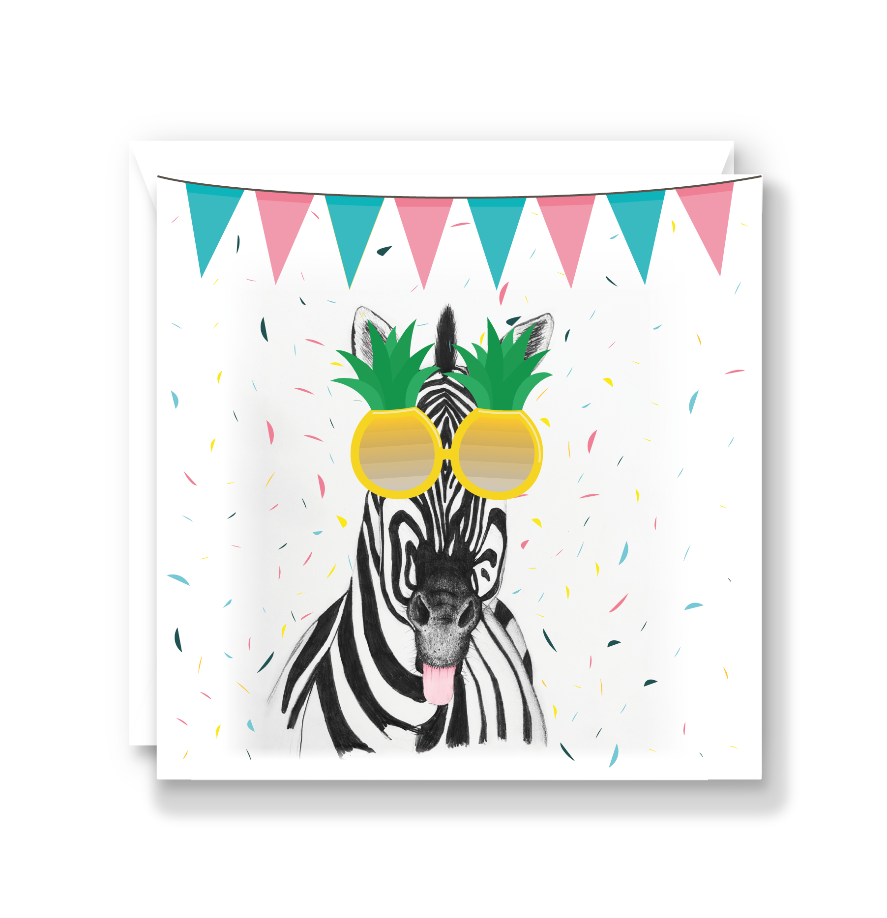 Super Cheeky Zebra Card