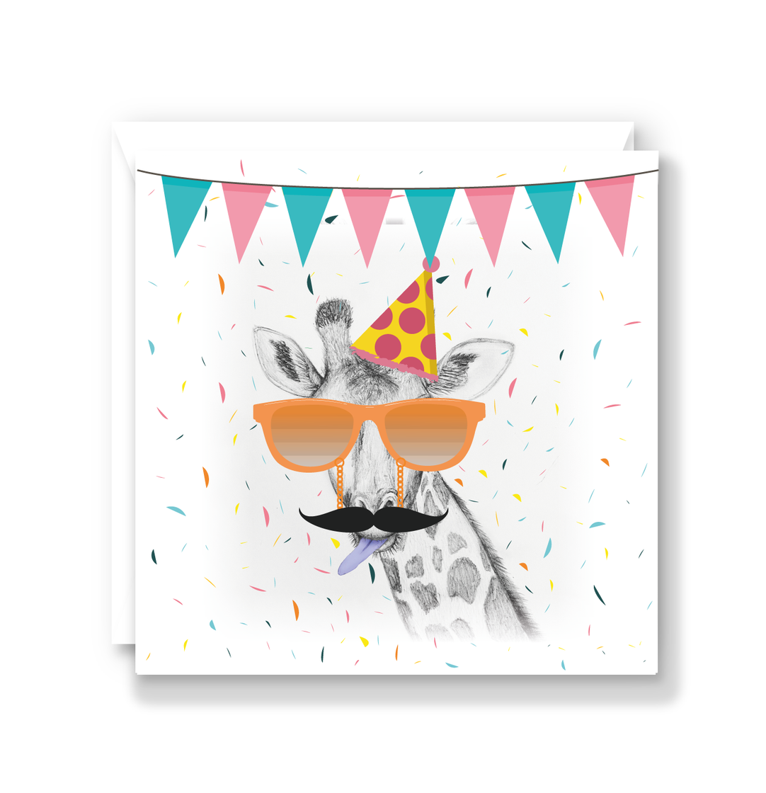 Super Cheeky Giraffe Card