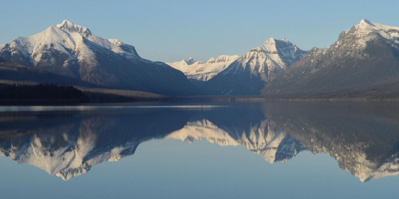 Image of a mountain reflecting back on water