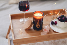 Load image into Gallery viewer, Candleholic Logo Wine Bottled Luxury Candle with cork lid - Candleholic Shop
