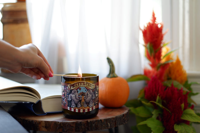 Circus Soy Wine Bottled Candle - Candleholic Shop