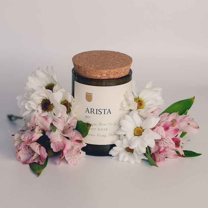 Arista Handmade Soy Candle in Recycled Wine Bottle - Candleholic Shop