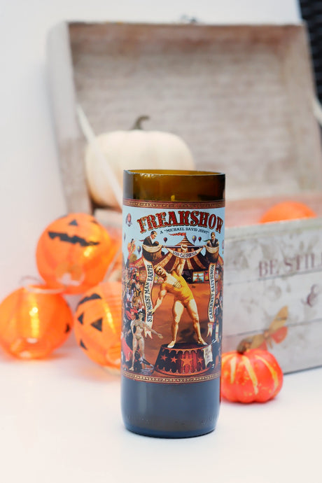 Freakshow 3 Wine Bottle Candle - Candleholic Shop