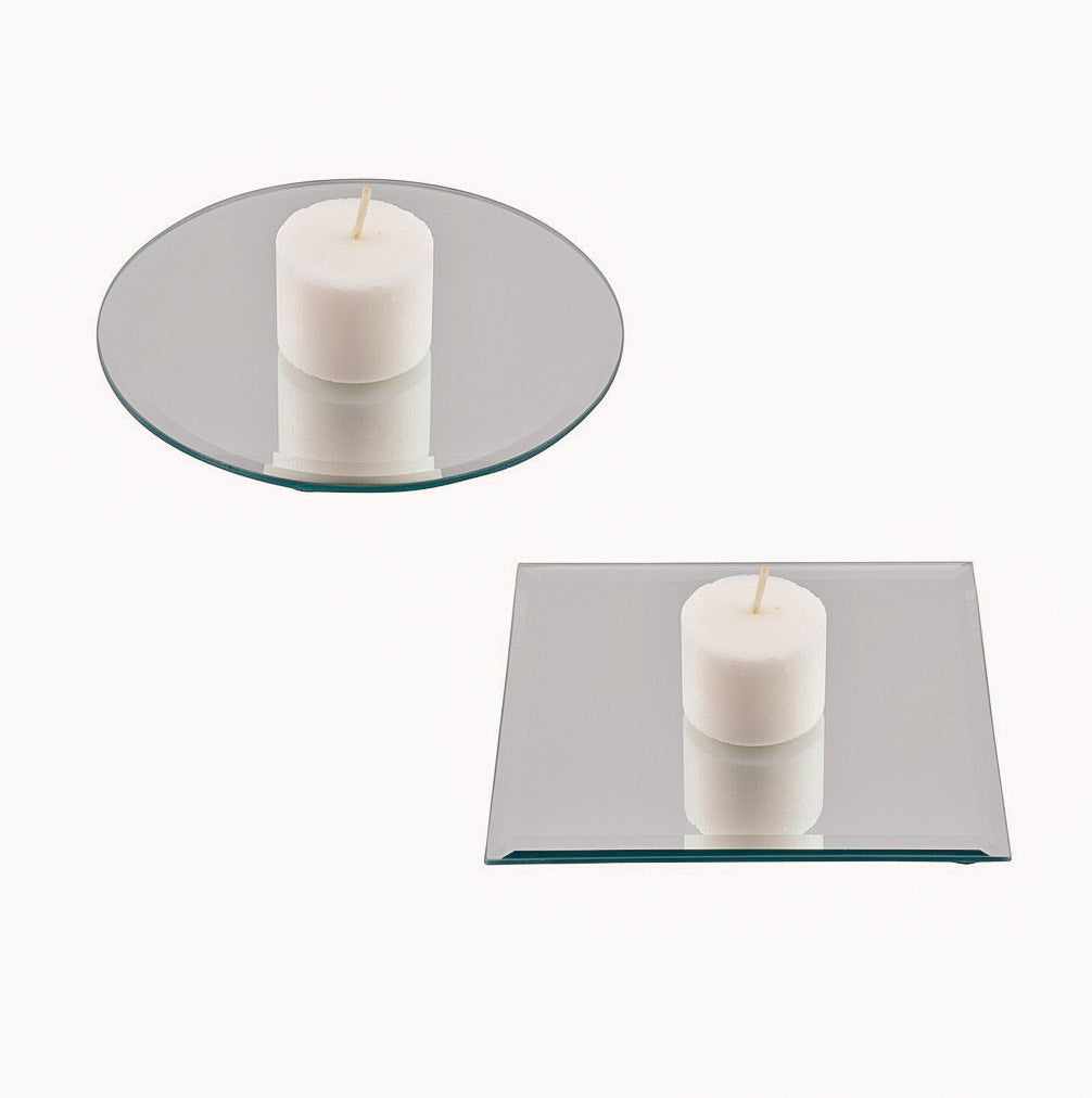 Luminessence Glass Mirror Candleholders, 4.5 in. - Candleholic Shop