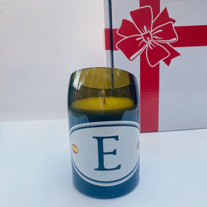 E- spania Wine Bottle Candle - Candleholic Shop